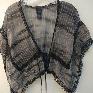Black and grey shrug